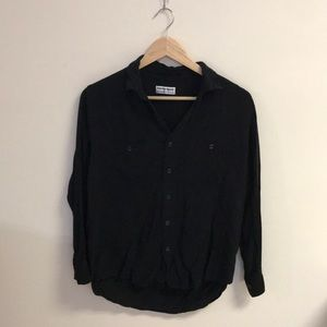 NEW Black Button Up Blouse Top